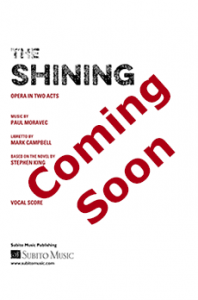 The Shining Piano Vocal Score coming soon