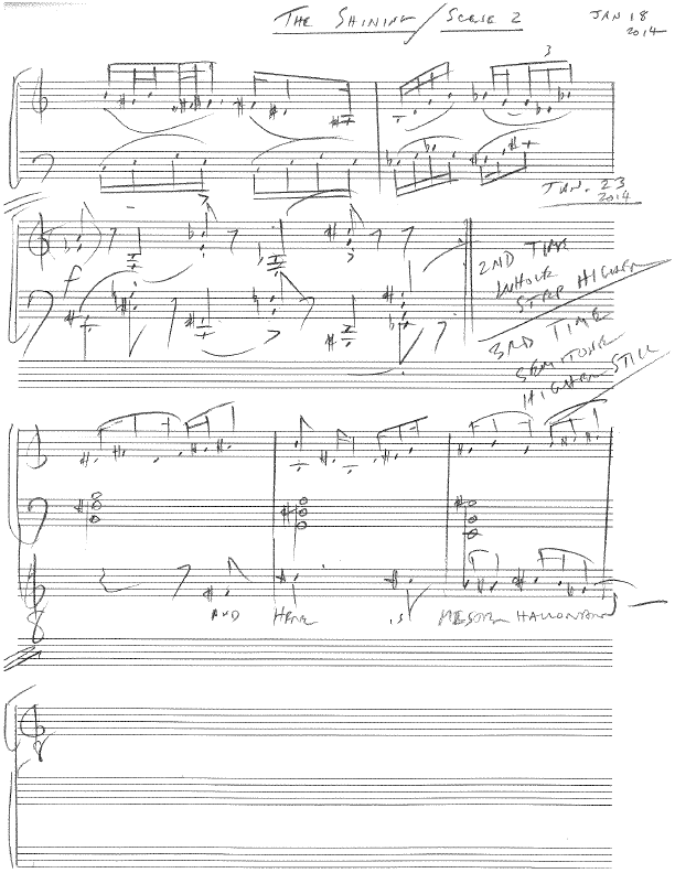 The Shining | Paul Moravec manuscript